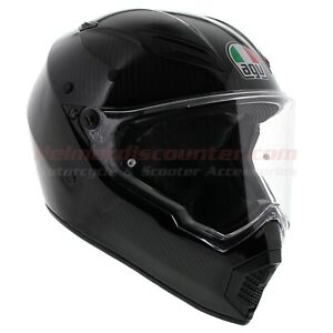 AGV AX9 AX-9 Matt Carbon, Offroad Motorcycle Helmet, Fast