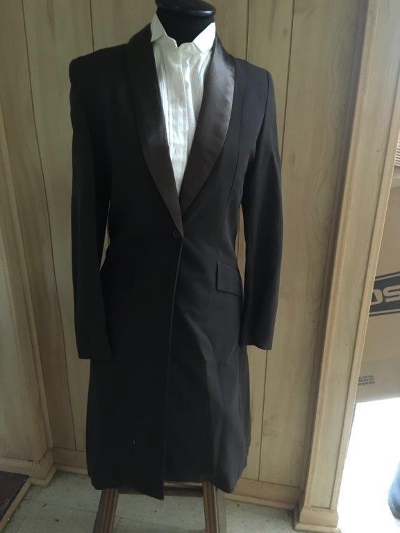 SADDLESEAT 2 Pc TUXEDO Dark BROWN  Ladies Sz 8 NEW Saddlebred, Morgan, Arab  comfortably