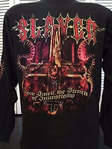 Rare-Slayer-Stench-of-Immortality-Tour-Shirt-Size-Large-Rock-Thrash-Metal
