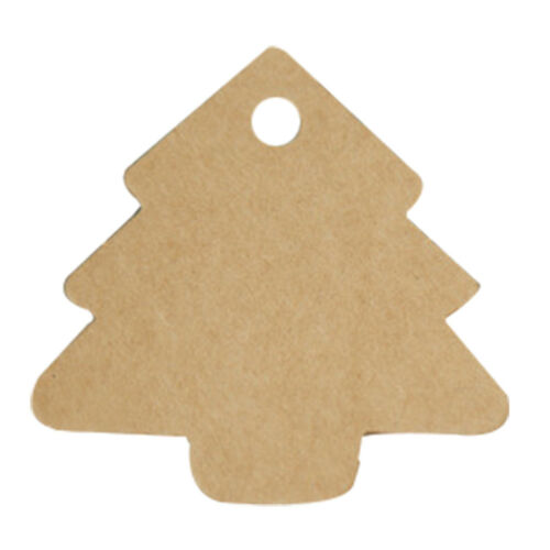 Tree Shape Kraft Paper Cards Hang Tag Labels Party Xmas 100pcs Decor