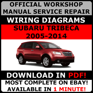 2006-2007 SUBARU TRIBECA WORKSHOP SERVICE REPAIR FACTORY MANUAL