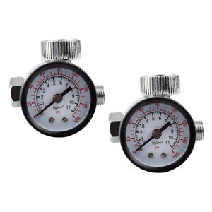 2-Pack-Spray-Gun-Mini-Air-Regulator-Gauge-Adjustable-Dial-1-4-Compressor
