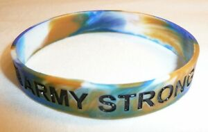 Image Is Loading Army Strong Rubber Bracelet Wrist Band Us Military