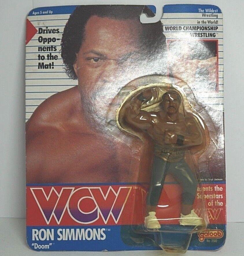 WCW Galoob Ron Simmons UK exclusives  voiturete scellé EMS avec suivi  autorisation de vente de la marque