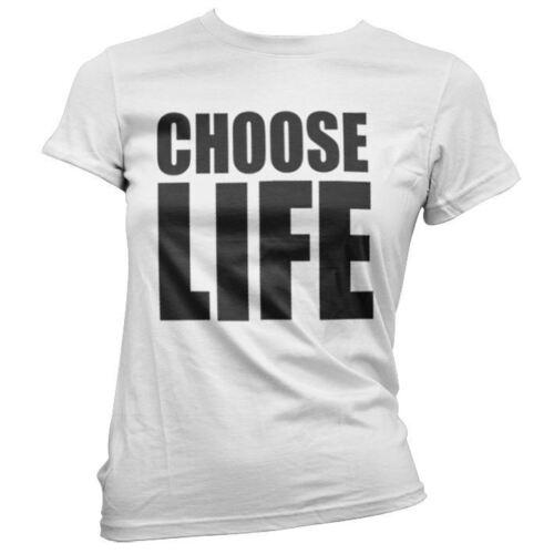 Scegliere la vita da donna ragazze Wham anni/'80 Fancy Dress Party Costume Bianco T-Shirt Top