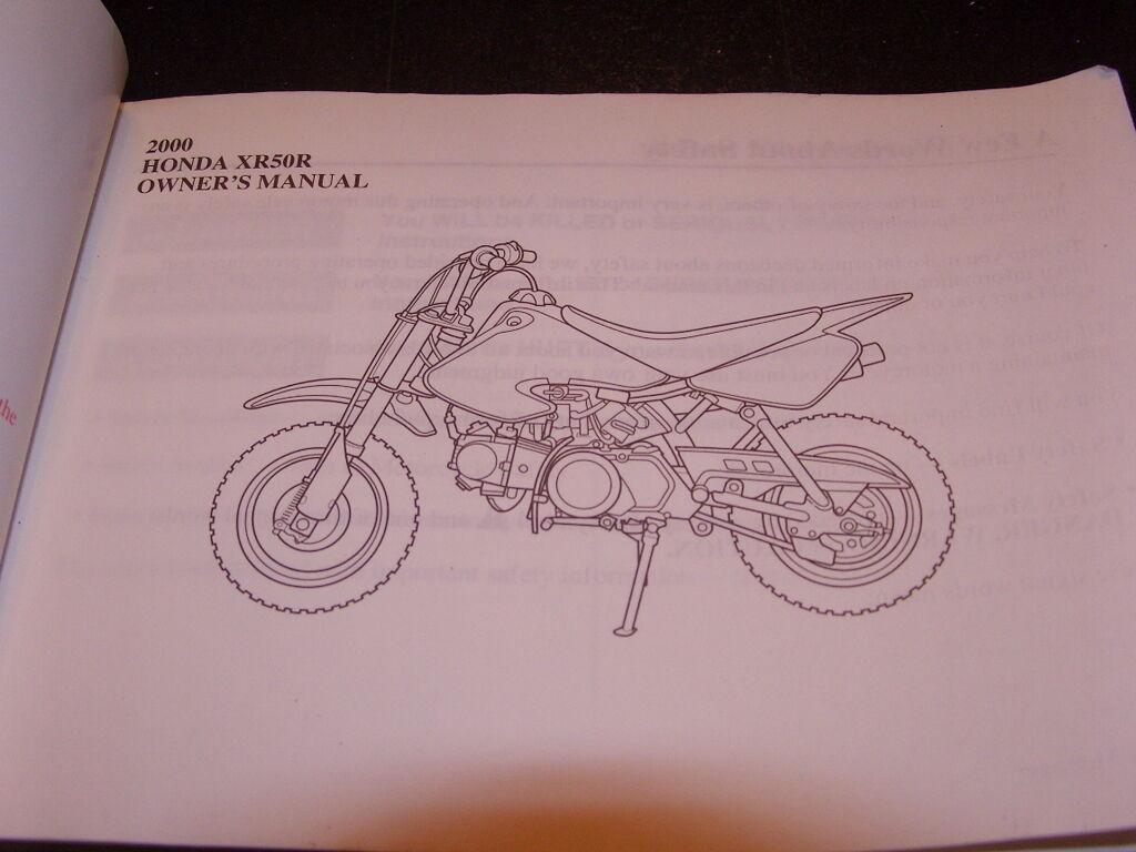 2000 Xr 50r Xr50r Owners Manual Ebay Wiring Diagram