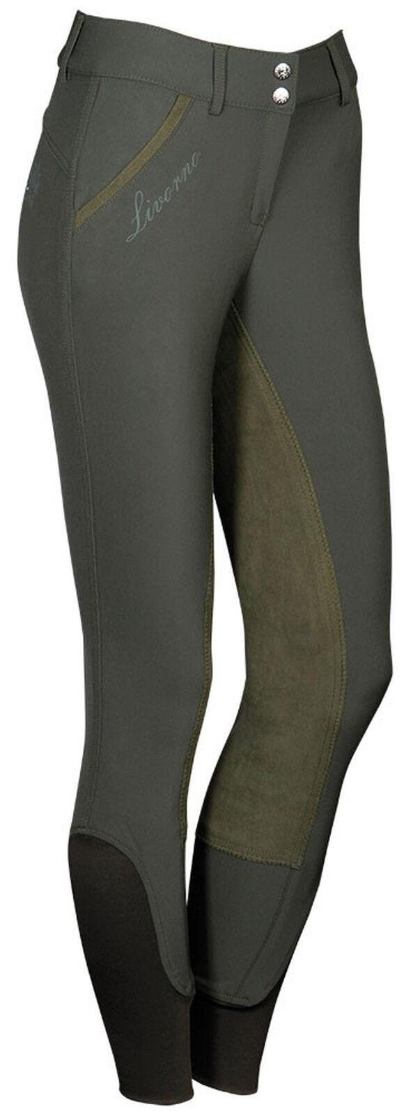 Harry's Horse señora reithose livorno plus ribete de pleno bordados + pedrería verde