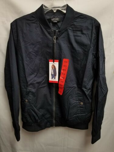 NEW Buffalo David Bitton Women/'s Navy Blue Hoodless Bomber Jacket Various Sizes