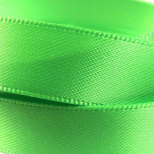 Neon Qualité Ruban Satin au mètre 3-25 mm Vert couleurs émeraude Citron vert