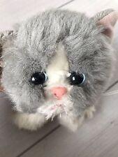 Vintage Easter Kitty Kitty Kittens Grey And White Plush Tyco Toy Stuffed AnImal
