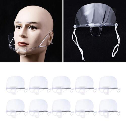 Couverture anti-buée en plastique de protection de bouche de bouclier buccal