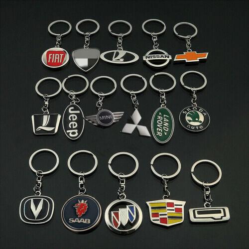 Zinc Alloy New 3D Car Logo Keychain Metal Emblem Pendant Key Holder Keyring