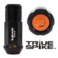 24pc Vms Racing 1/2 Steel Lug Nuts Orange Capped Closed End For Dodge Dakota