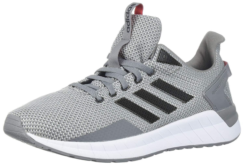 Adidas Uomo Questar Ride Running Shoe, Grey Three/Core Nero/Grey Two, 11.5 M