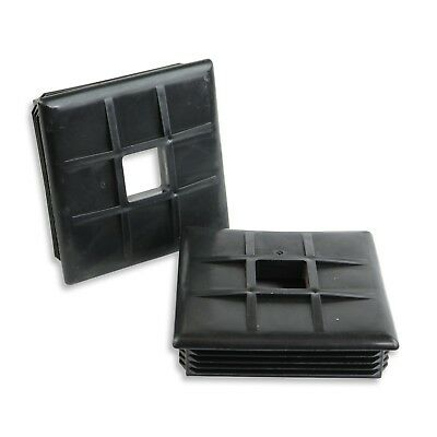 2 Pack Autmotive Authority 4 Square Rubber Bumper Plug End Cap Cover RV Camper Trailer