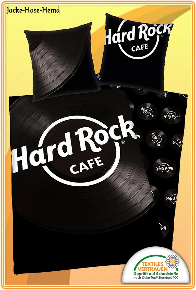 Bettwäsche Hard Rock Cafe Musik Baumwolle Übergröße XXL Gr.155x220cm NEU