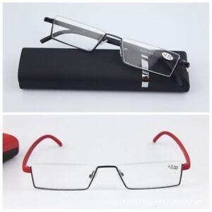 aa41b368659 Image is loading Reading-Glasses-Unisex-Half-frame-Resin-Lenses-Presbyopic-
