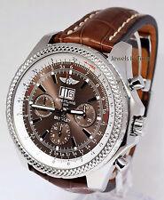 Breitling Bentley 6.75 Chronograph Steel Bronze Havana Dial Watch A44362
