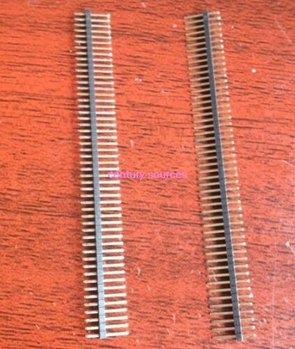 10PCS 1.27mm 50 Pin 1X50P male Single Row Pin Header Strip