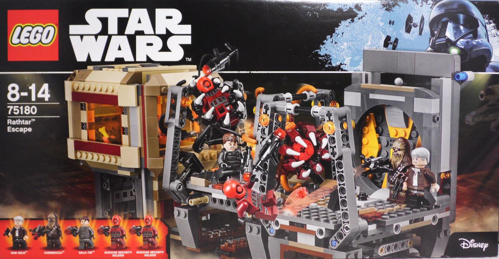 LEGO Star Wars 75180 Rathtar Escape Han Solo Chewbacca Bala-Tik Guavian NEU