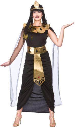 Damen Karneval Fasching Verkleidung Kos Königin Nefertari Pharaonin Kostüm NEU
