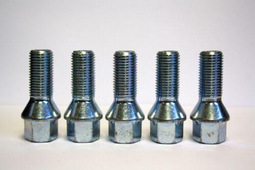 5 x M14X1.5 Conico Cerchi In Lega Bulloni 25 mm FILO 10.9 Grade zincato Zinco