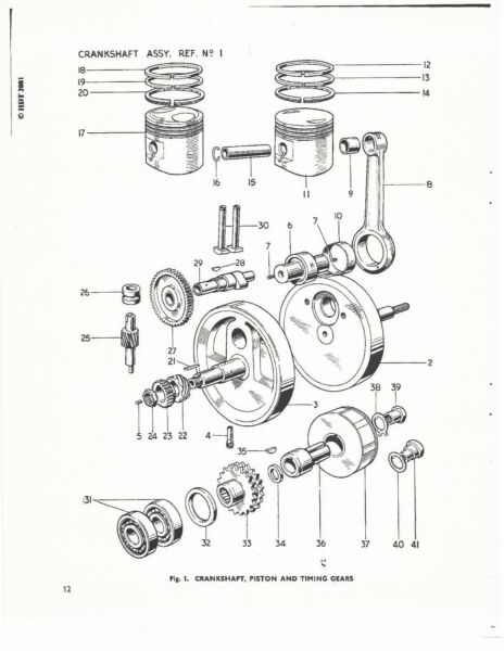 Triumph Parts Manual Book 1966 Tiger Cub Models T20sm T20sh