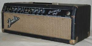 1964-Vintage-Fender-Blackface-Bassman-Tube-Guitar-Amp-AA864