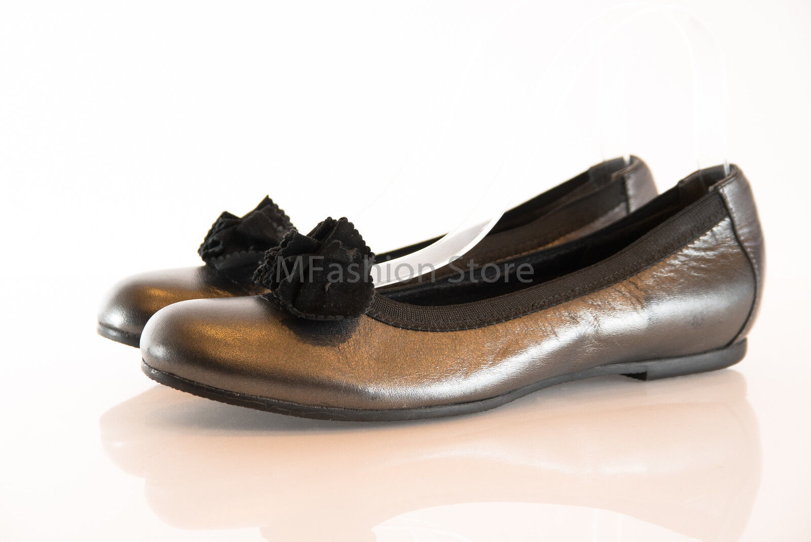 MUNRO182378 Silver Gray On Leather Loafers / Slip On Gray Womens Shoes Size US 7M New bc6e12