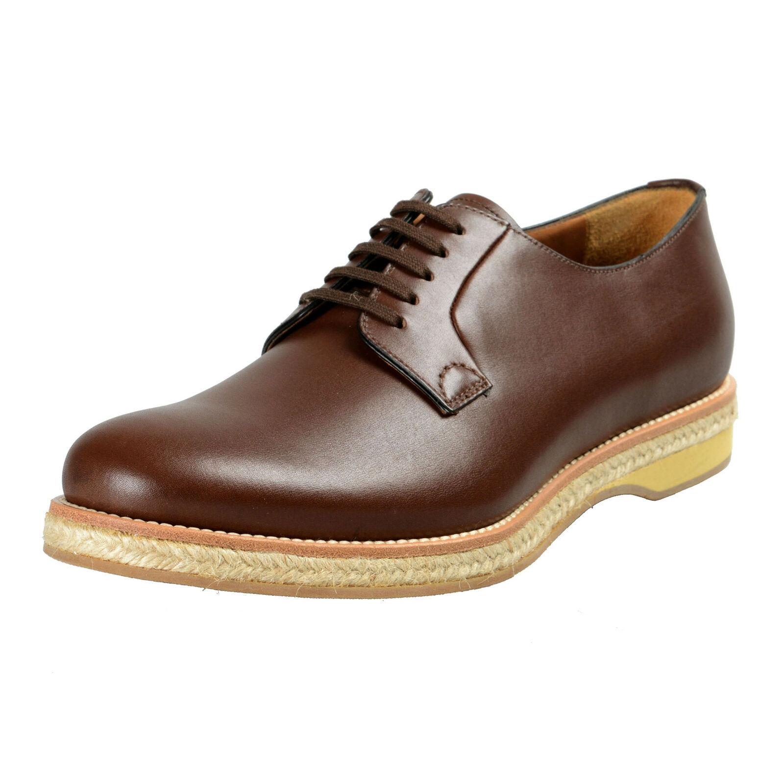 Prada Homme Brun Foncé Cuir Richelieus Chaussures 9 9.5 9.5 9.5 10 10.5 11 11.5 12  trouvez votre favori ici