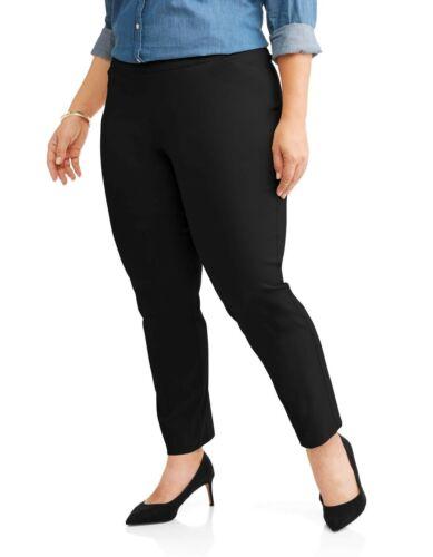 Terra /& Sky Women/'s Plus Size Stretch Woven Straight Leg Millennium Pant