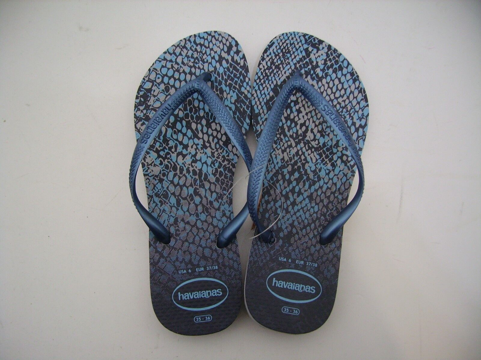 Havaianas Flip Flops Woman Slim Animals Cinza Marinho Grey bluee