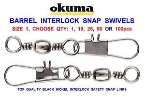 Barrel Swivel Interlock Snap Coarse Sea Fishing Tackle EXTRA STRONG Link