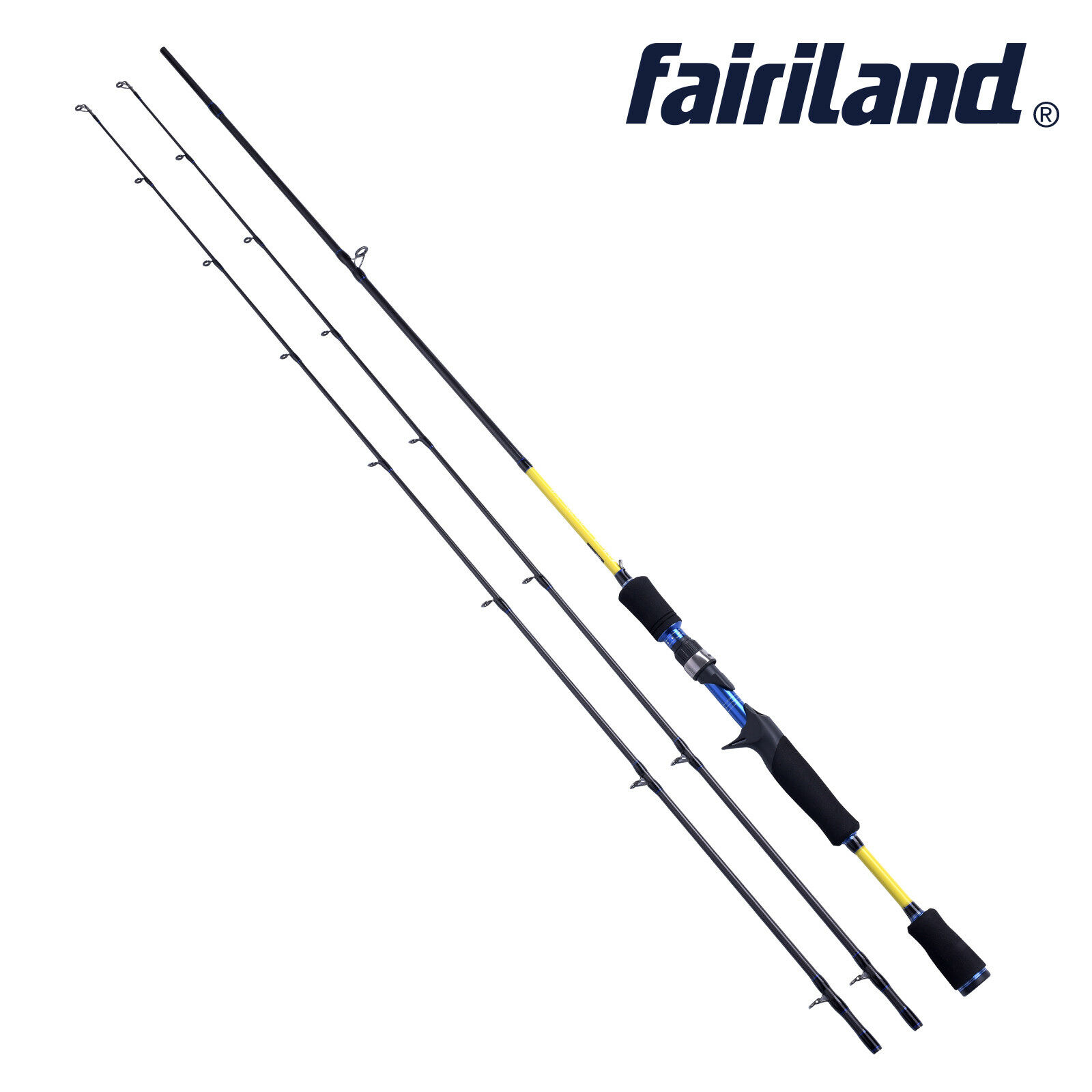 Fairiland 6'/6.6'/7' 2-Sec/with spare tip M/ML  carbon fiber casting fishing rod