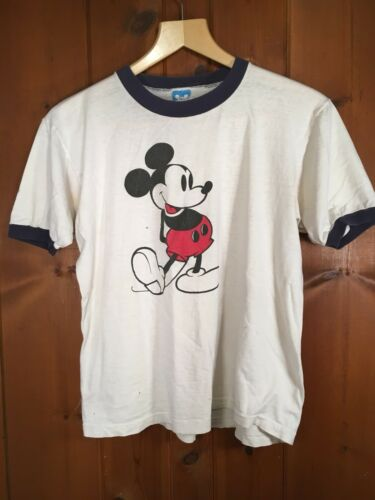 Vintage 80s Mickey Mouse Ringer Tee Men's size XL