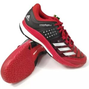 finest selection b95ef 50bad Image is loading Adidas-CrazyFlight-X-Red-Black-White-Volleyball-Shoes-