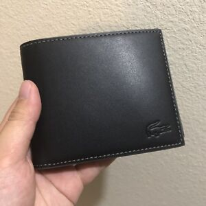 213df96f89b Image is loading Lacoste-Black-Leather-Wallet