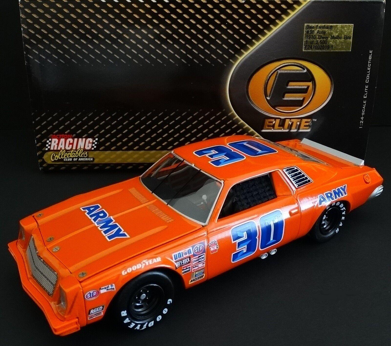 Dale Earnhardt, Sr.  30 Esercito 1/24 Rcca Elite 1976 Chevrolet Malibu 555/2500
