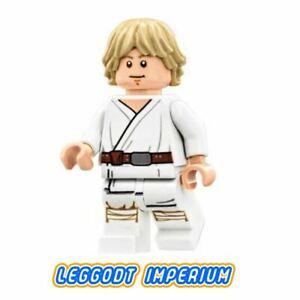 LEGO-Minifigure-Star-Wars-Luke-Skywalker-Tatooine-white-sw778-FREE-POST