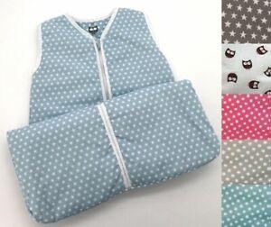 Baby-Schlafsack-100-Baumwolle-Eulen-Punkte-Sterne-Babyschlafsack-Unisex-Typ373