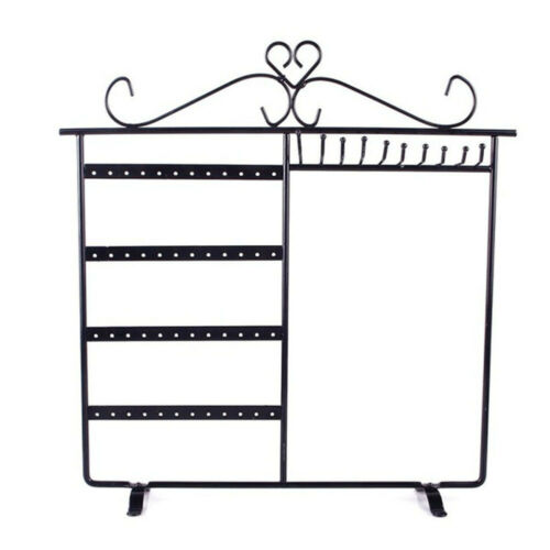 48 Hole Home Display Metal Necklace Earrings Desk Ornament Storage Jewelry Rack