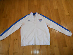6967a4445 AUTHENTIC NIKE N98 USA SOCCER TEAM 2014 TRACK JACKET MENS XL WORLD ...
