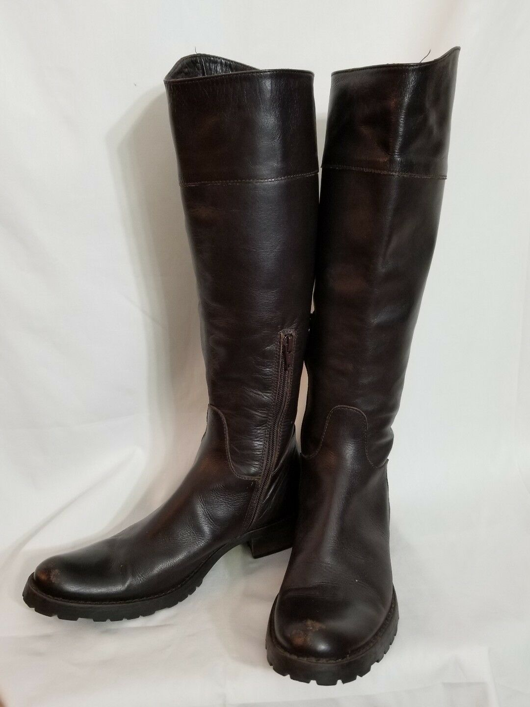 JFK Knee Stiefel braun soft leather Größe 36.5 made in