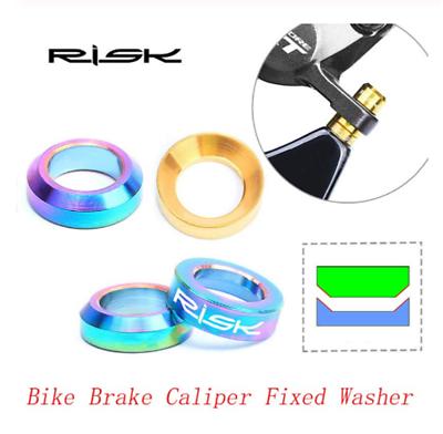 Risk M6 Brake Caliper Gasket Fixed Bolts Cycling Bike Screws Spacer Diy Parts I1