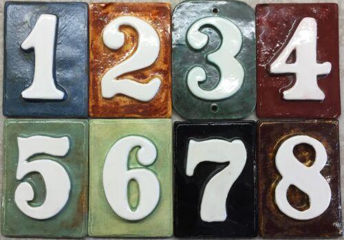 Applewood Pottery Handmade ceramic House address Mailbox Post numbers