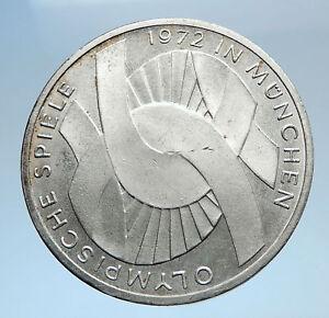 1972-Germany-Munich-Summer-Olympics-Games-Schleife-10-Mark-Silver-Coin-i74035