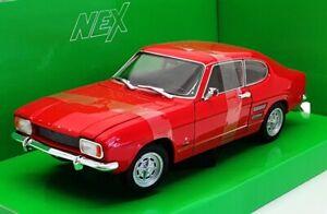 Welly-Nex-1-24-Scale-Model-Car-24069W-1969-Ford-Capri-Red