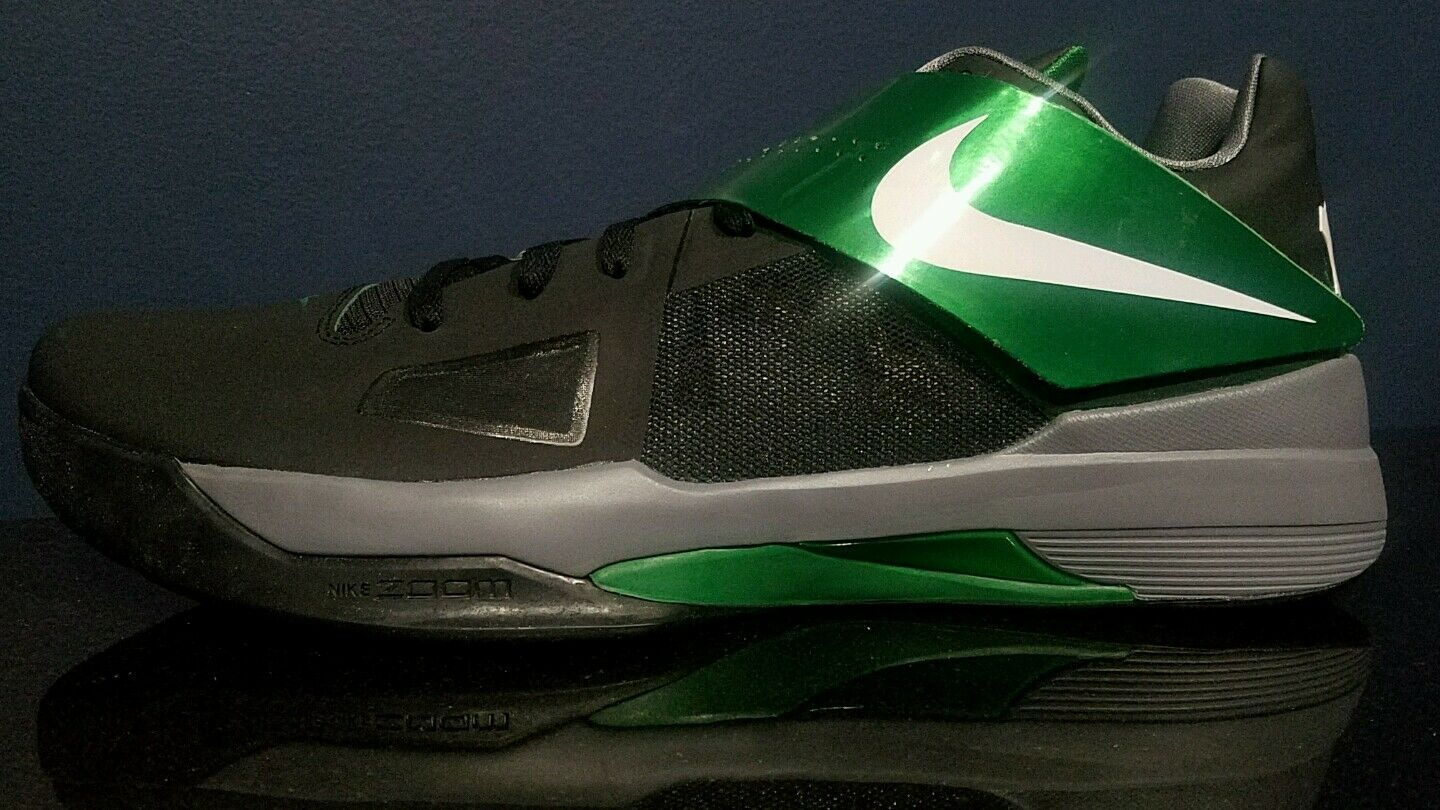 Brand discount Nike Zoom KD IV Black/Green Men's Basketball Shoes 473679004 Comfortable