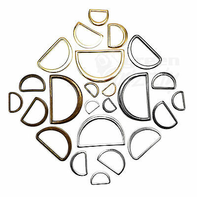 Molded solid cast flat D rings buckles for webbing different sizes and colours