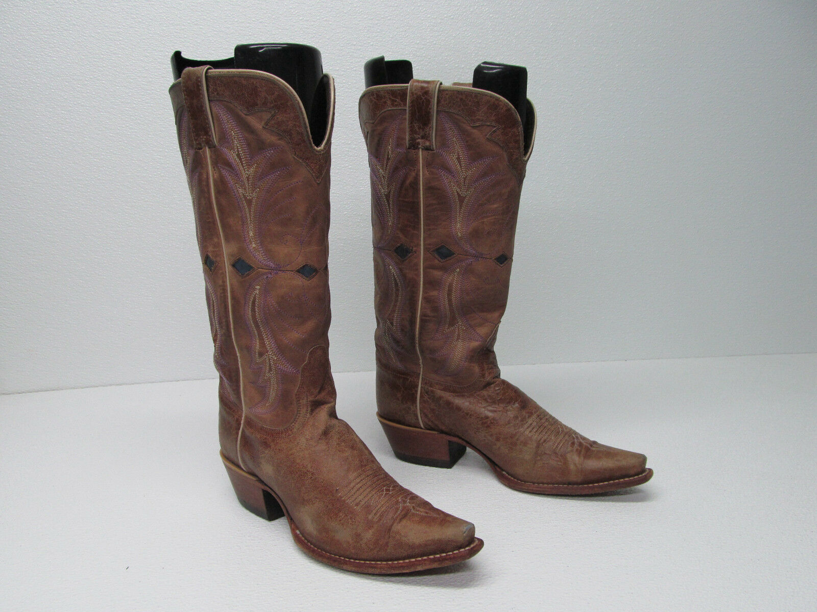 NOCONA Stiefel NL5300 BROWN CRACKLE GOAT LEATHER 9B WESTERN COWGIRL Stiefel Damenschuhe 9B LEATHER de76b6